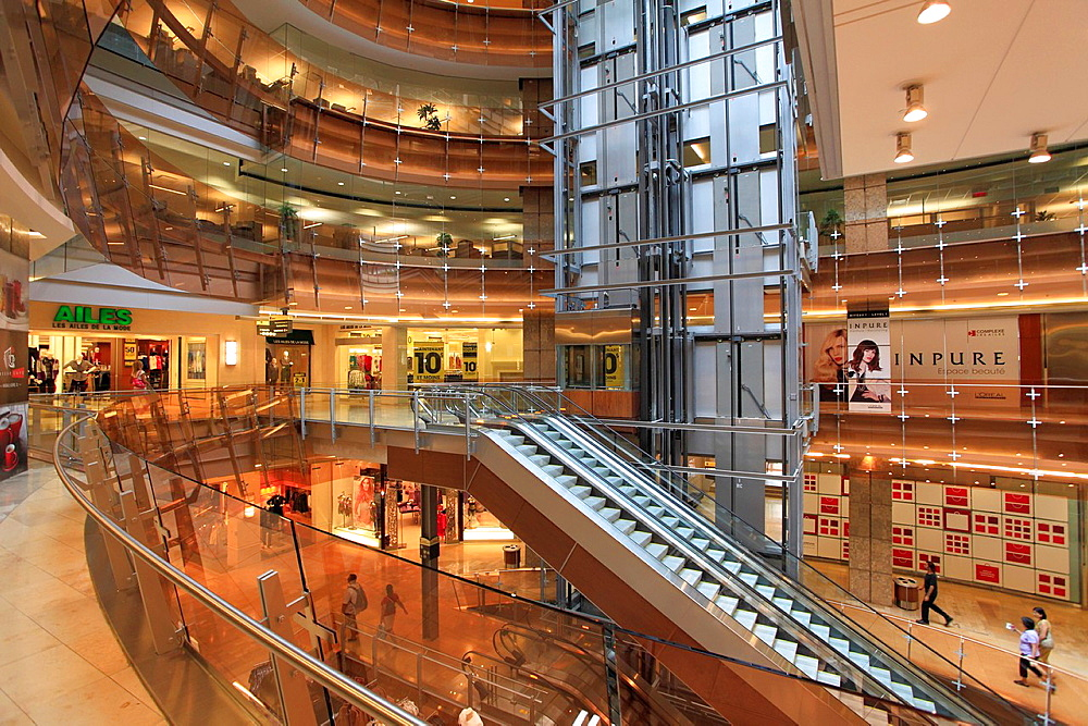 Canada, Quebec, Montreal, Complexe Les Ailes, shopping mall,.