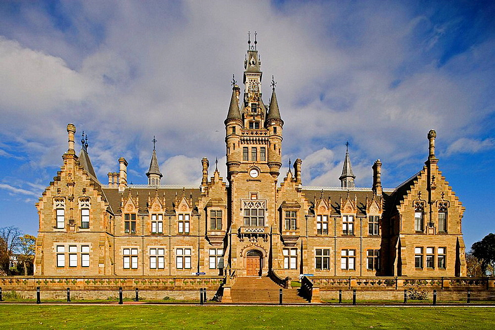 Dundee, Morgan Academy, a secondary school, designed in 1862 by the Edinburgh architects John Dick Peddie and Charles Kinnear, opening in 1868 as the Morgan Hospital, Scotland, UK