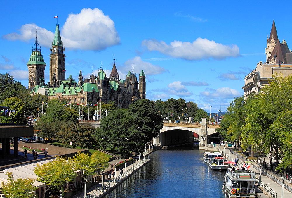 Canada, Ontario, Ottawa, Parliament, Rideau Canal,.