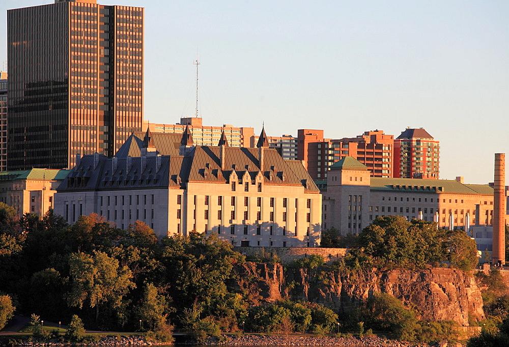 Canada, Ontario, Ottawa, skyline, Supreme Court,.
