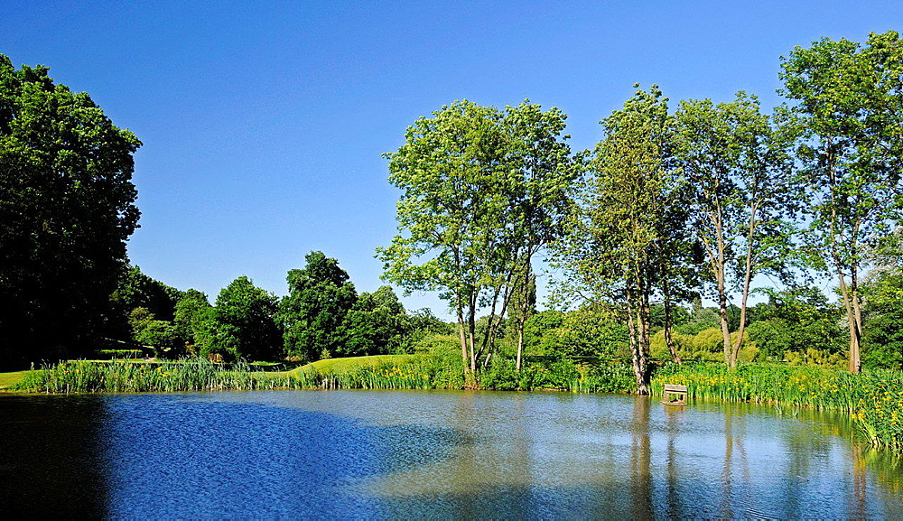 Pond on Sundridge Park Golf Course Bromley Kent England.