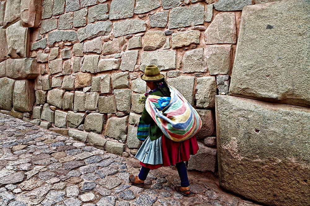 Inca rock in cusco, peru.