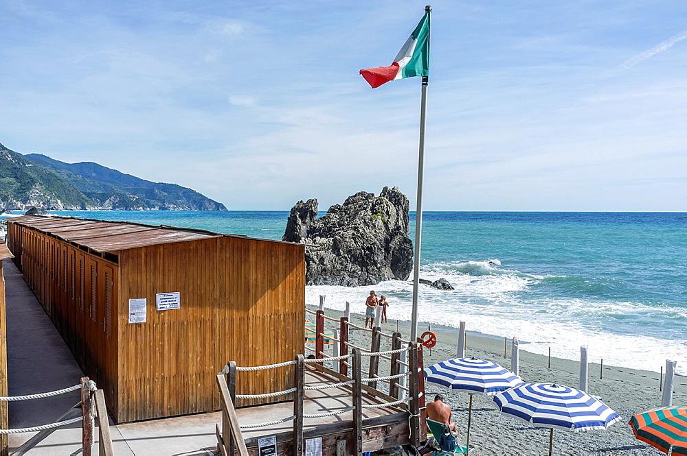 Monterosso al Mare,Cinque Terre,Italy,Europe.Beach.