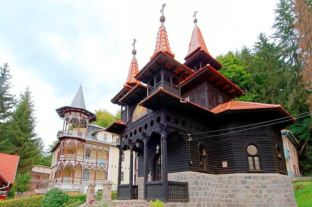 Black Orthodox Church, Sovata, Romania, Europe.