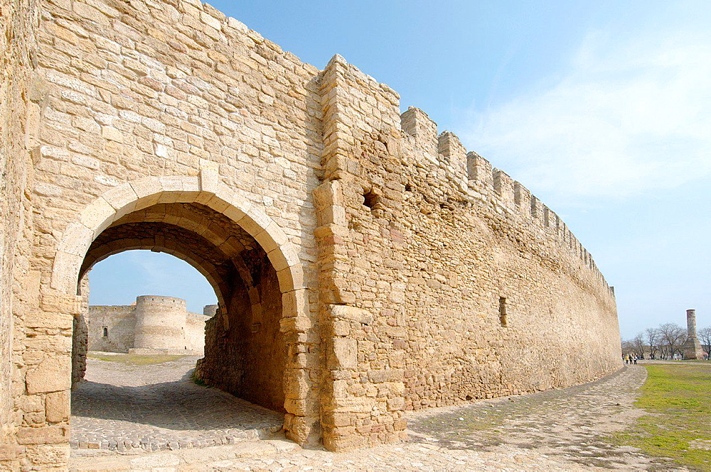 Gate, Akkerman fortress (white rock, white fortress), Belgorod-Dnestrovskiy, Ukraine, Eastern Europe.