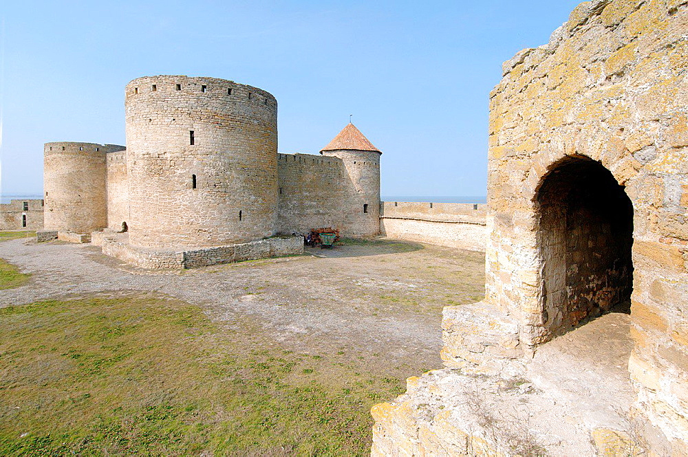 The inner part of fortress Akkerman (white rock, white fortress), Belgorod-Dnestrovskiy, Ukraine, Eastern Europe.