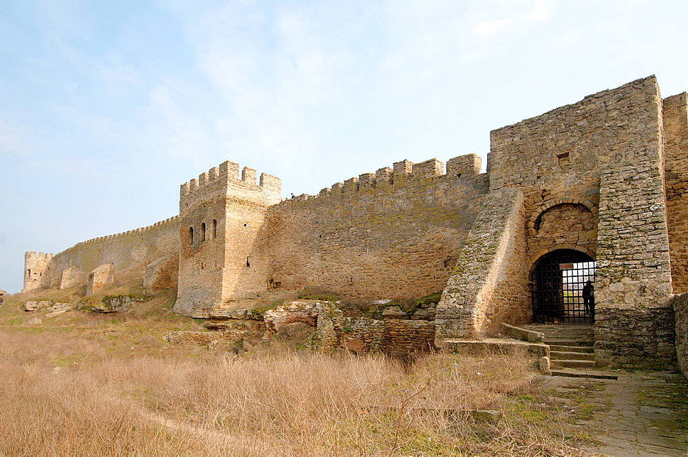 The fortress Akkerman from the Dniester Liman (white rock, white fortress), Belgorod-Dnestrovskiy, Ukraine, Eastern Europe.