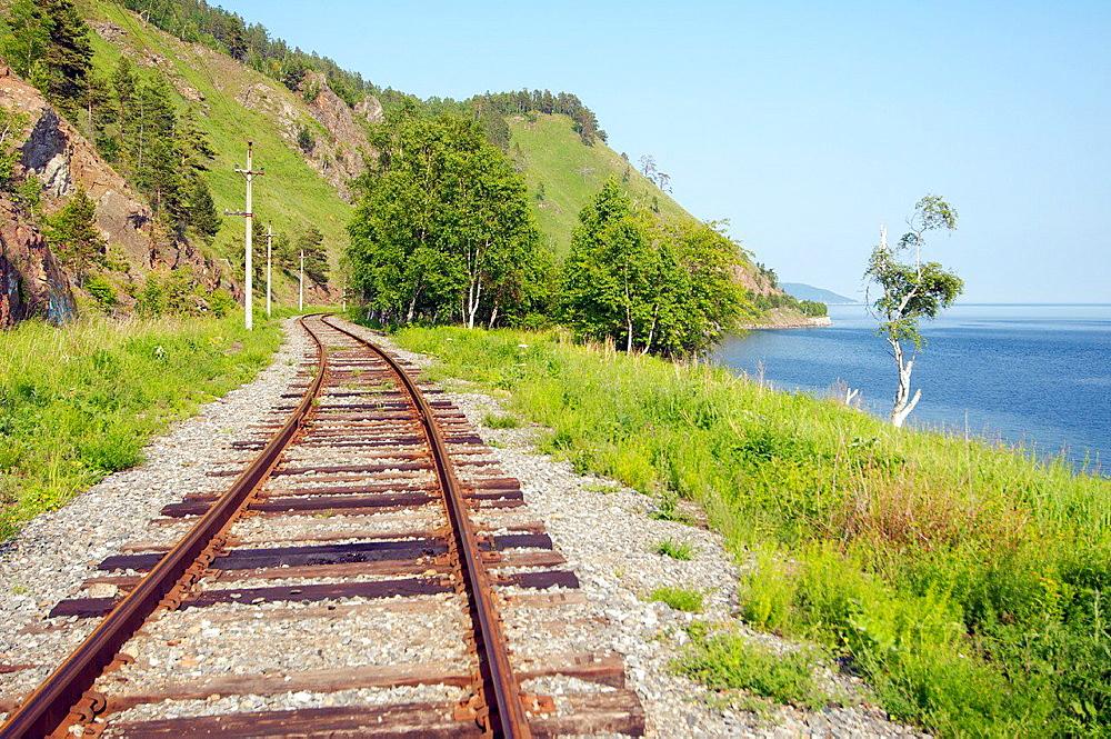 Circum-Baikal Railway, Lake Baikal, Irkutsk region, Siberia, Russian Federation.