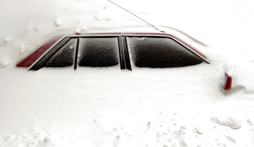 The car closed by snow, Odessa, Ukraine. - 817-462508