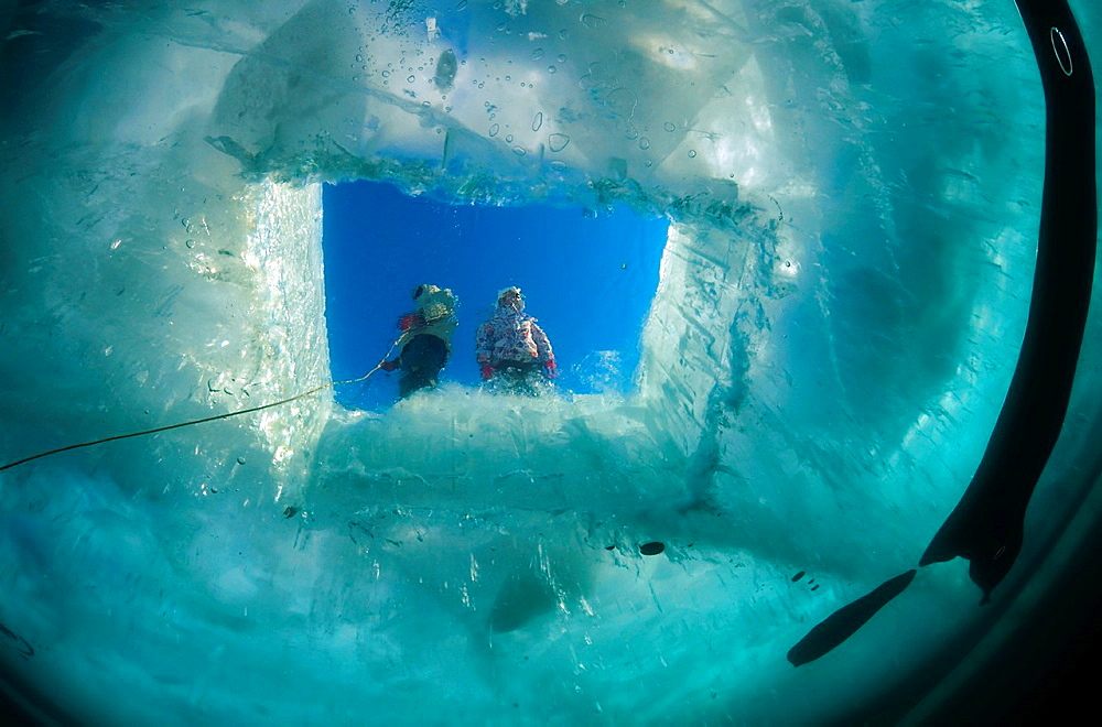 ice-diving, in lake Baikal, Siberia, Russia, island Olkhon.
