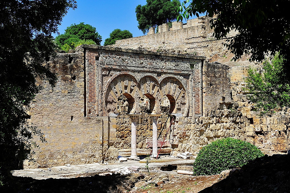 Ruins of the Arab city of Medina Azahara, Cordoba province, Andalusia, Spain