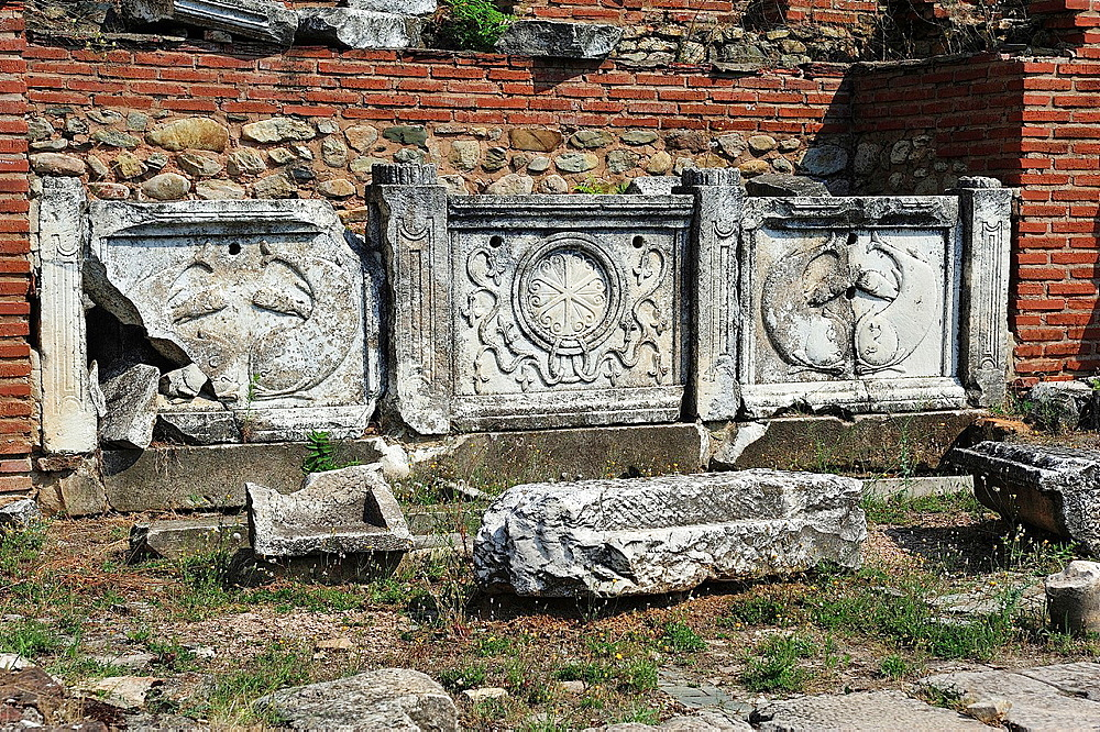 Archaeological Site, Heraclea Lincestis, fourth century BC., Macedonia