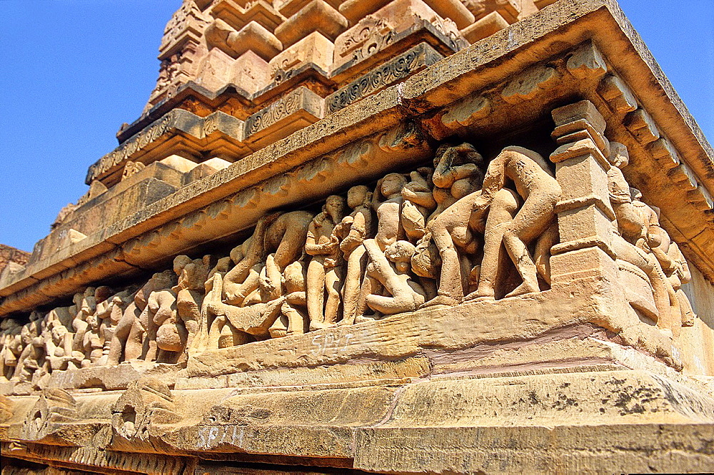 Lakshmana temple, X-XI centuries, Khajuraho Group of Monuments, UNESCO World Heritage Site, Madhya Pradesh, India, Asia. - 817-462701