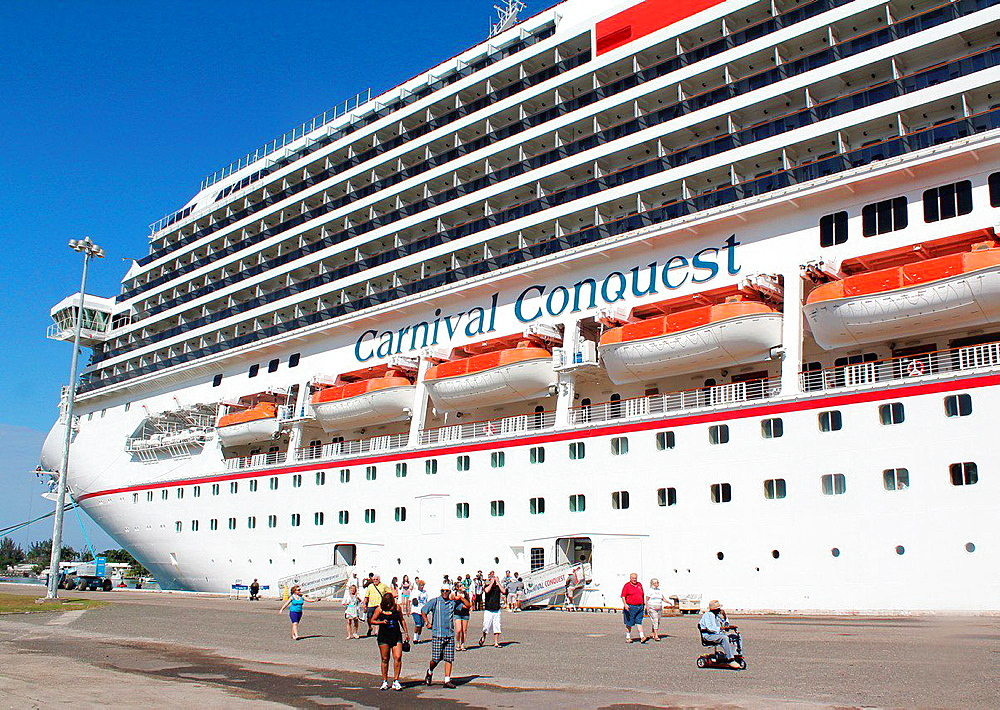 Passengers aboard the Carnival Cruise Lines ''Glory'' come ashore for a day of fun on the Caribbean island of St. Thomas in the U.S. Virgin Islands.