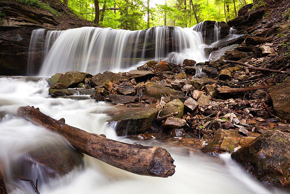Lower Tews waterfall, Hamilton, Ontario, Canada.