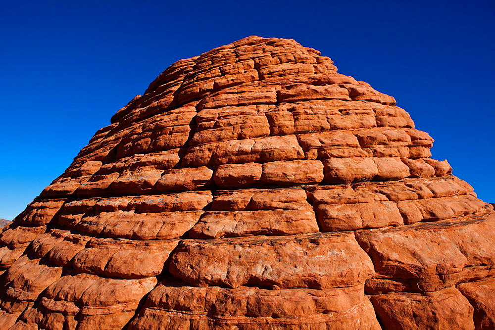 The Beehives, red sandstone rock formations, Valley of Fire State Park, Nevada, United States of America.