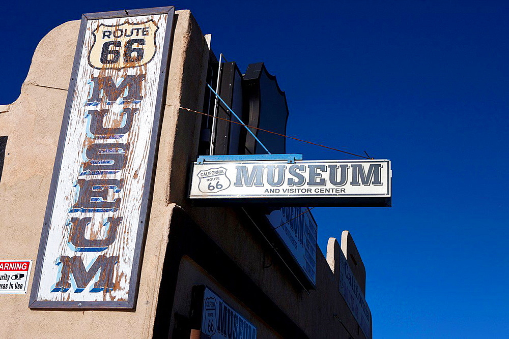 Exterior of the Route 66 Museum, Victorville, California, United States of America.
