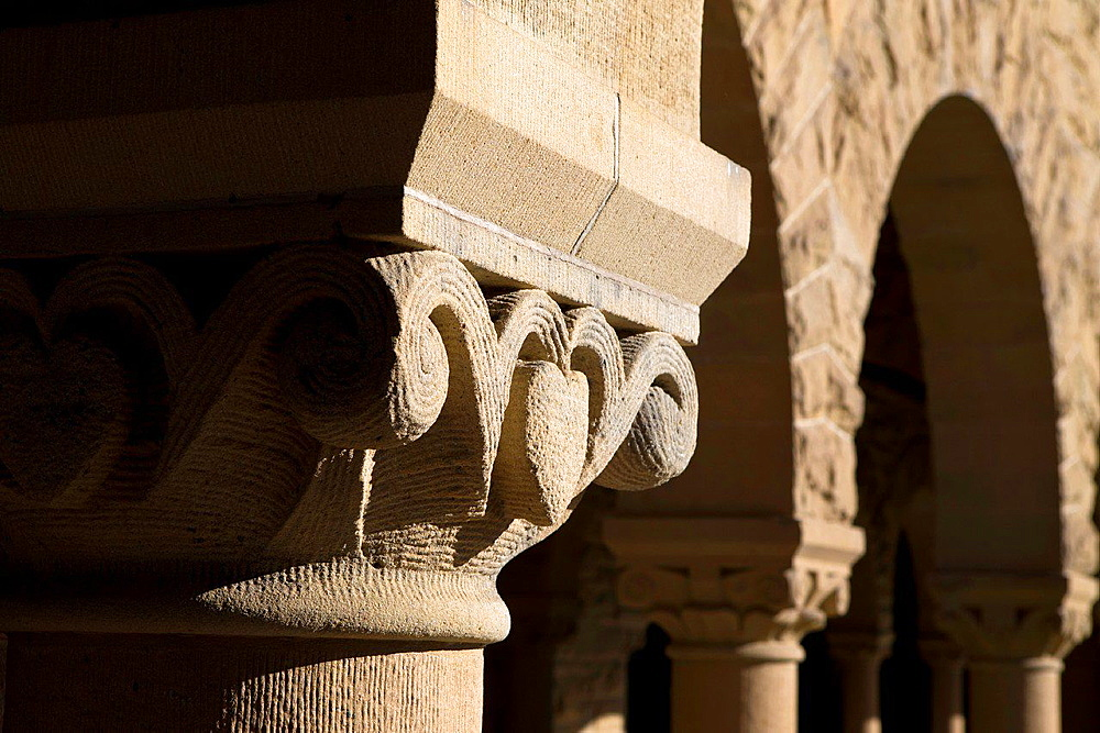 Detailed view of a column on the main quad, Stanford University, Stanford, California, United States of America.