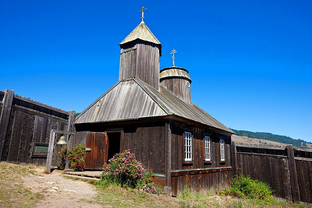 Holy Trinity St. Nicholas Chapel, Fort Ross State Historic Park, Sonoma County, California, United States of America.