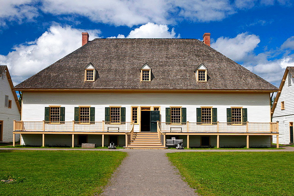 Great Hall, Fort William Historical Park, Thunder Bay, Ontario, Canada.