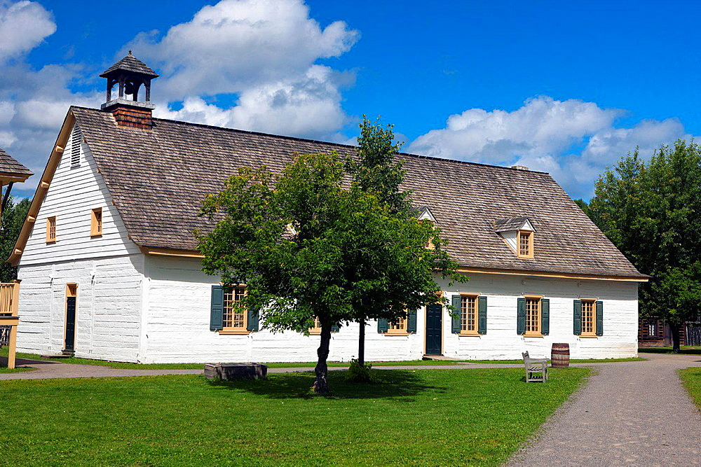 Bell House, Fort William Historical Park, Thunder Bay, Ontario, Canada.