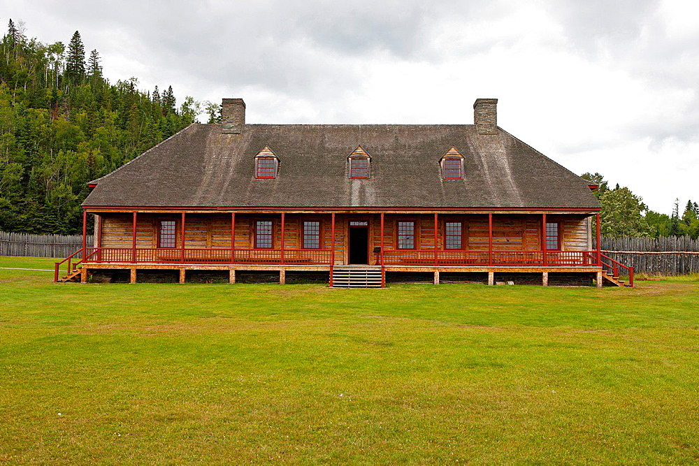Exterior of the Great Hall, Grand Portage National Monument, Grand Portage, Minnesota, United States of America.