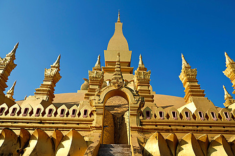 The Temple That Luang in Vientiane in Laos.