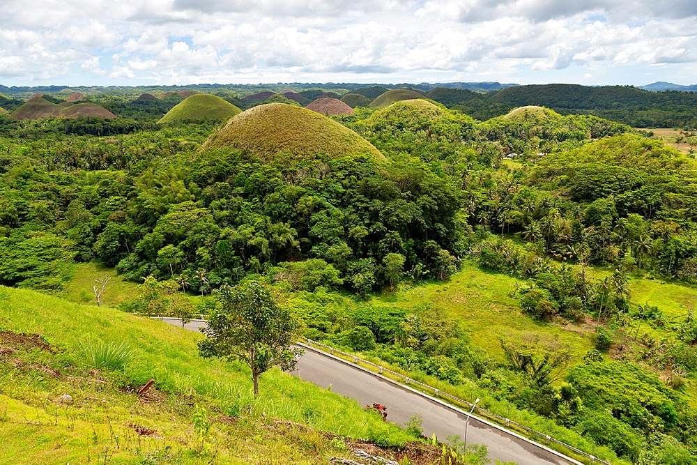 View over the famous Chocolate Hills on Bohol Island, Philippines.