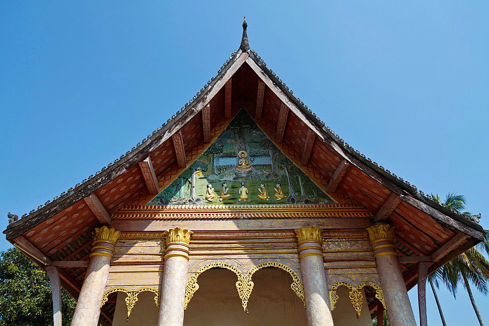 Part of the Temple Vat Aham in Luang Prabang, Laos