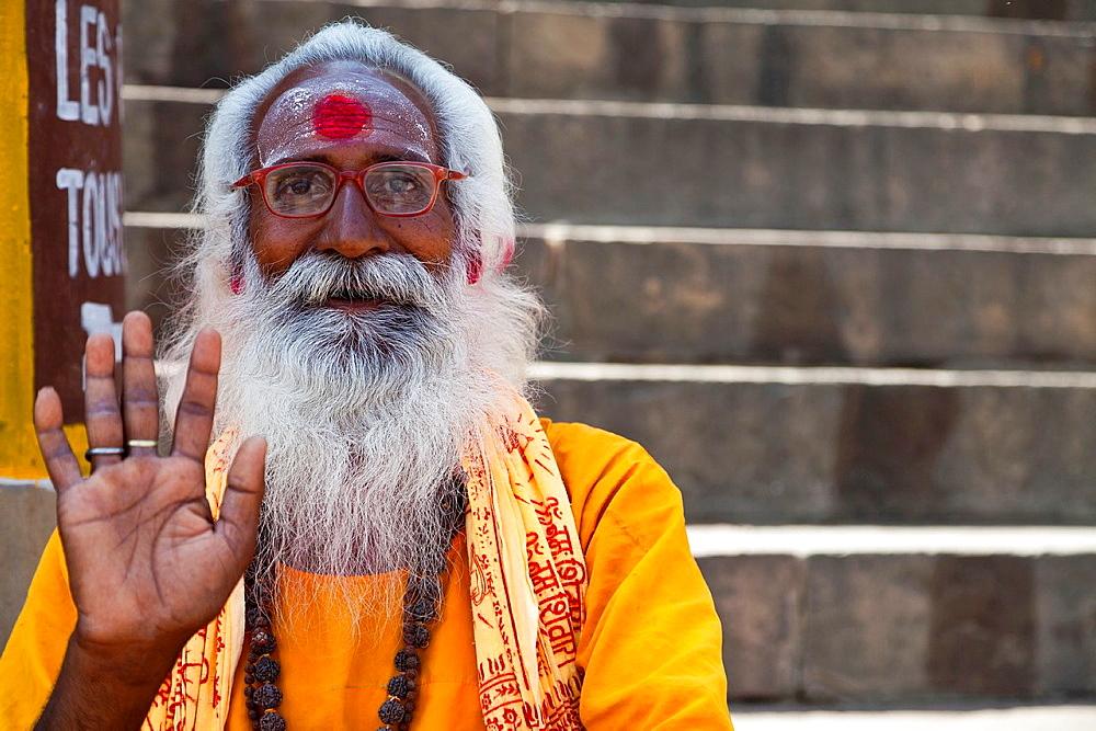 Begging Monk in Varanasi, India