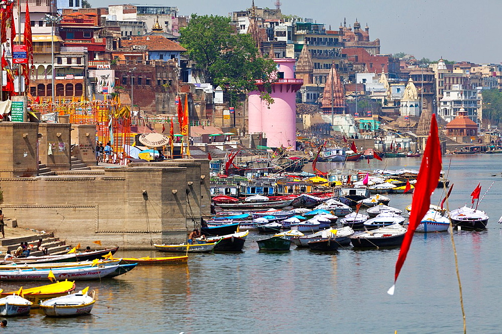 Banks of the River Ganges in Varanasi, India