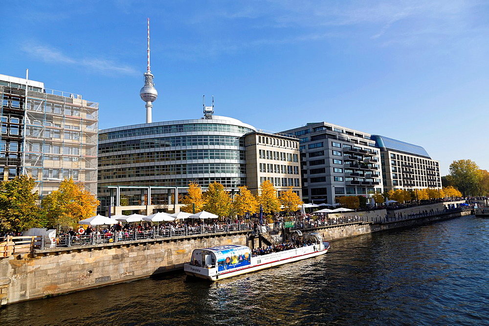 View over the River Spree in Berlin, Germany