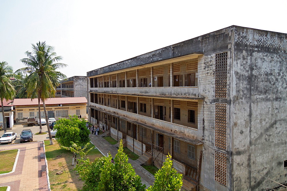 The former Torture Prison Tuol Sleng in Phnom Penh, Cambodia.