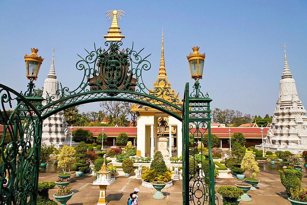 On the Compound of the Royal Palace in Phnom Penh, Cambodia.