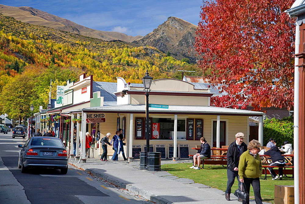 Arrowtown on south island,new zealand.