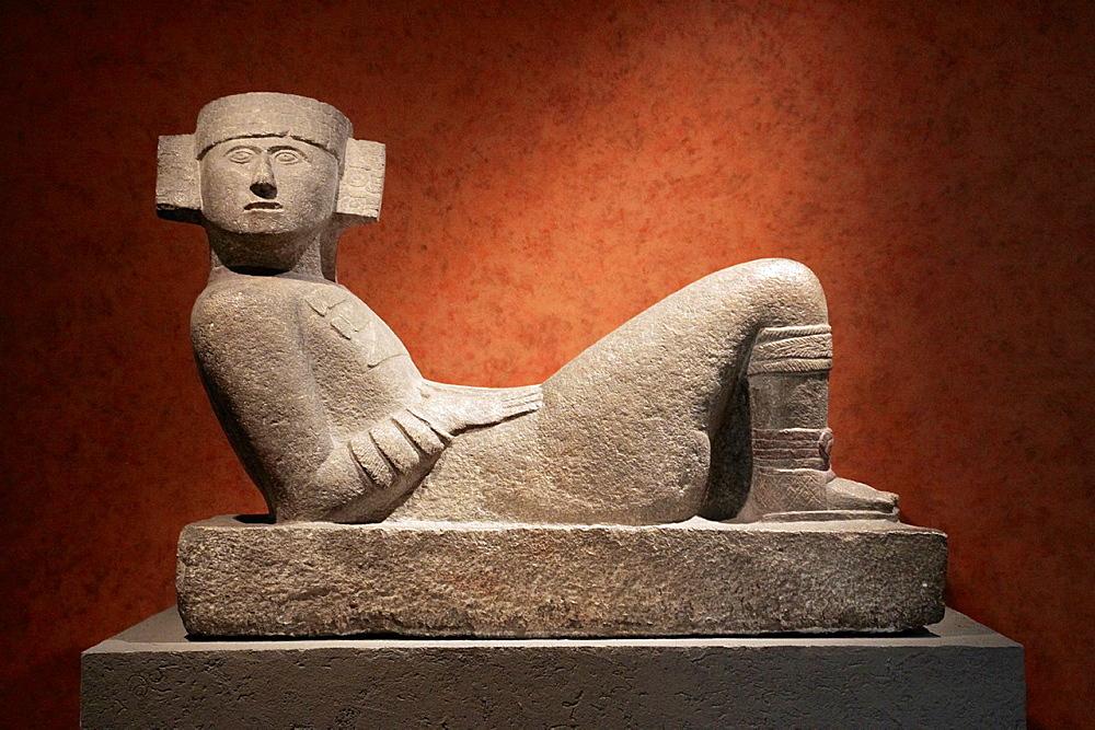 Chac Mool at Museo Nacional de Antropologia. Ciudad de Mexico.