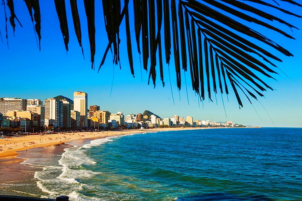 Ipanema Beach from Mirante do Leblon lookout, Rio de Janeiro, Brazil