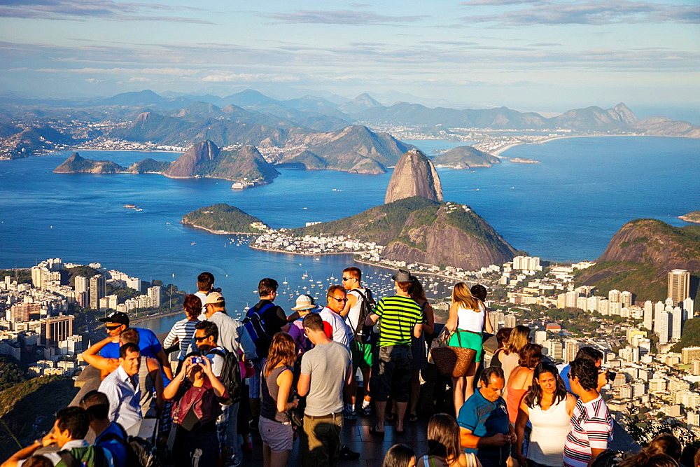 Sugarloaf Mountain (Pao de Acucar) and Botafogo district, Rio de Janeiro, Brazil - 817-464116