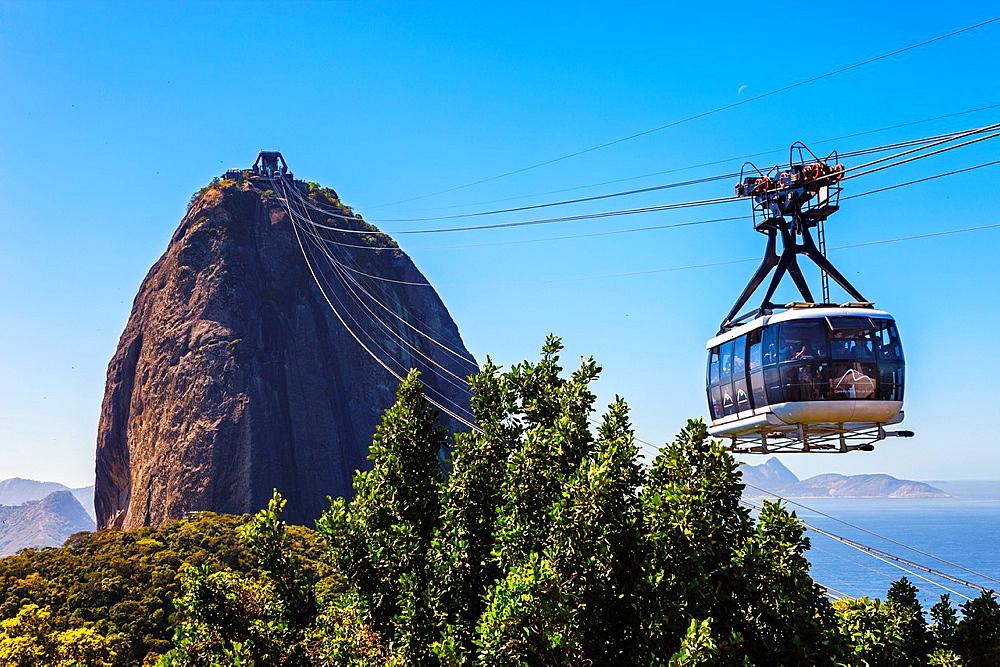 Cable car to Sugarloaf Mountain (Pao de Acucar), Rio de Janeiro, Brazil