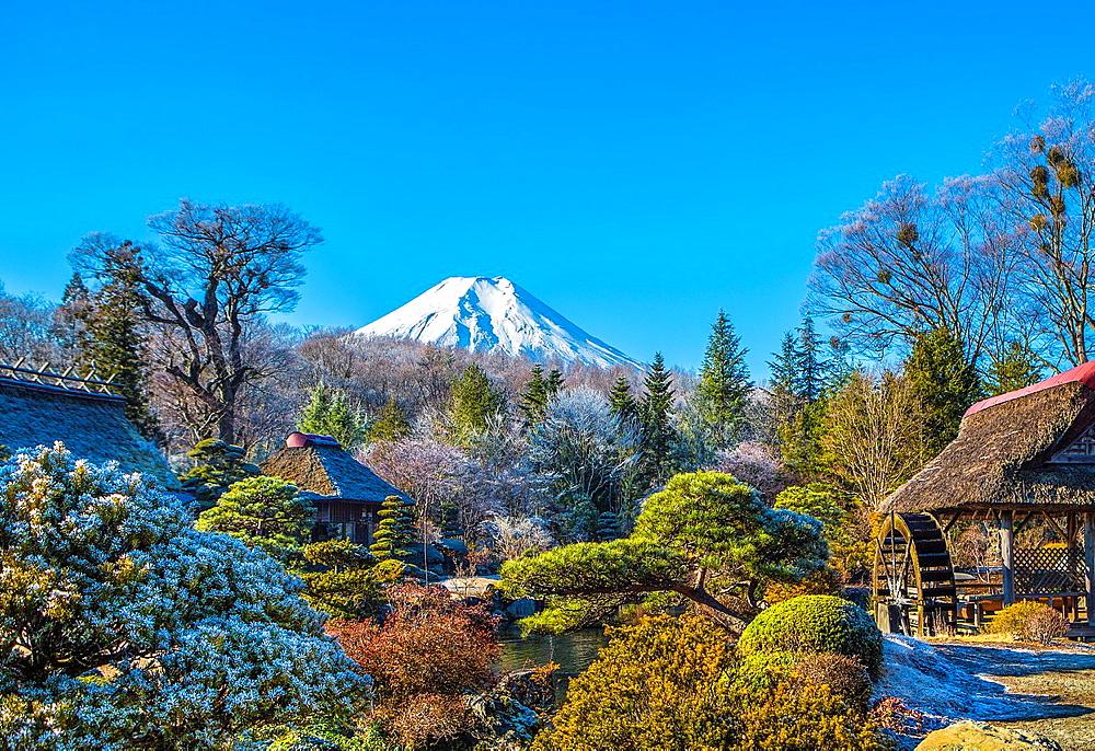 Japan ,Mount Fuji from Oshino Mura.