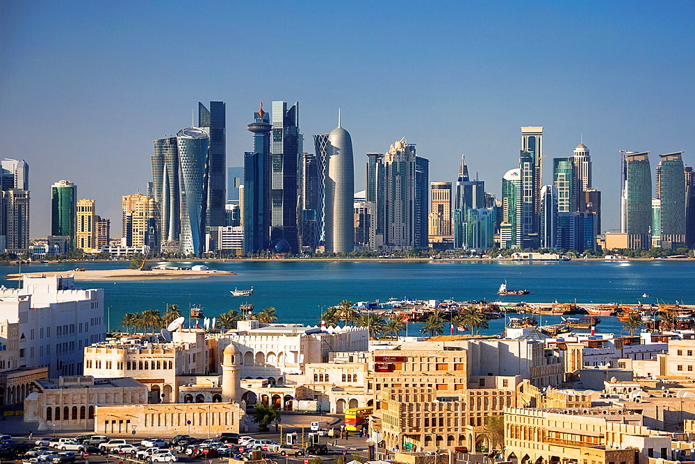 Qatar, Doha City, Old and New Doha.
