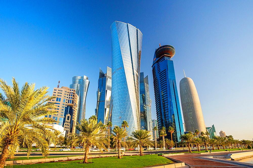 Qatar, Doha City, Al Bidda Tower.