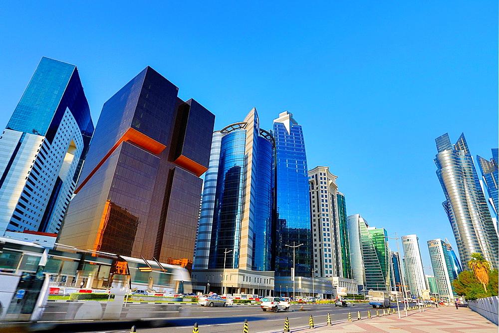 Qatar, Doha City, The Golden Bldg.