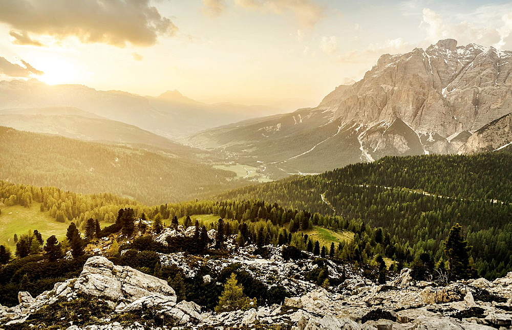 Mountain view, Valparola, Alta Badia South Tyrol, Italy