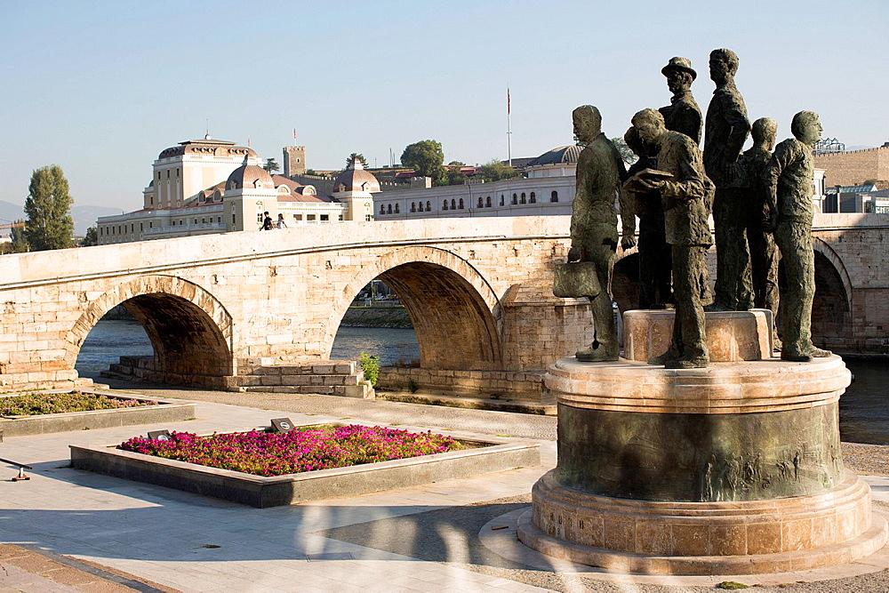 Monument, Skopje, Macedonia