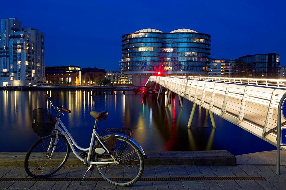 Waterfront at dusk, Copenhagen, Denmark