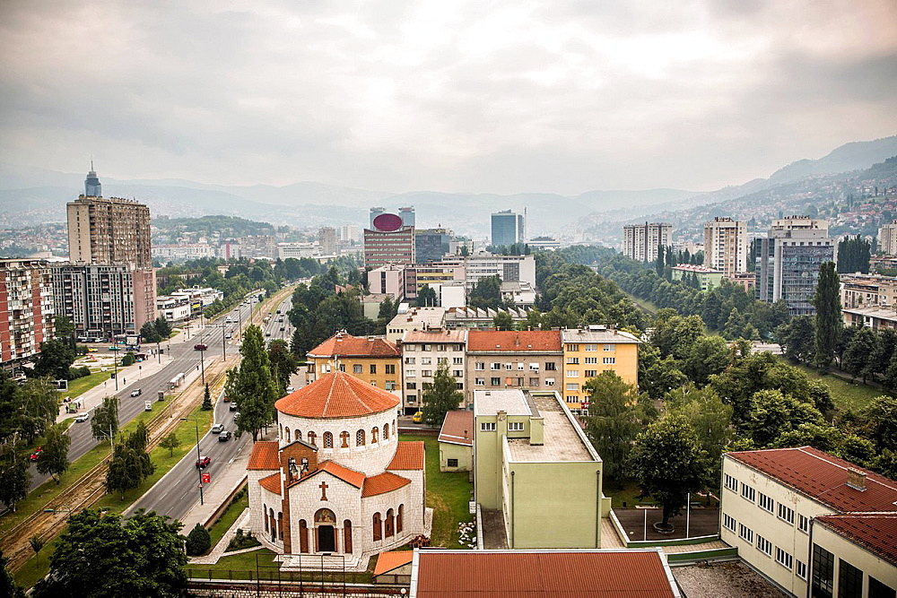 City skyline, Sarajevo, Bosnia and Herzegovina