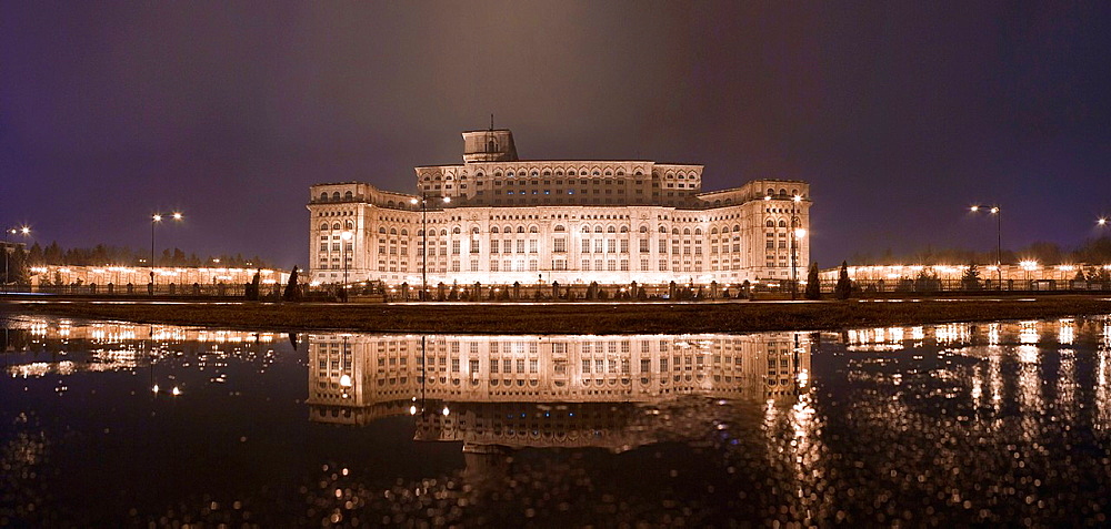 Former palace of Nicolae Ceausescu, Bucharest, Romania