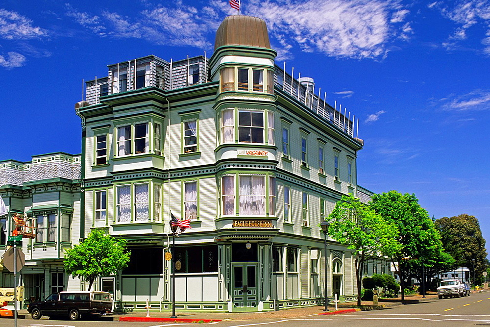 The victorian Eagle House Inn, Old Town, Eureka, Humboldt County, CALIFORNIA.