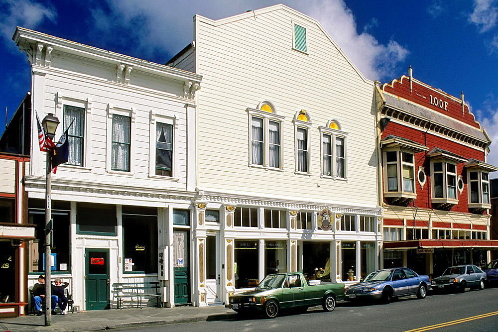 Downtown victorian buildings, Ferndale, Humboldt County, CALIFORNIA.